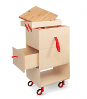 Perfect for tiny kitchens, the Ope Storage Cart by Valentina Carretta for Miniforms. Birch wood. Around £830. www.miniforms.eu