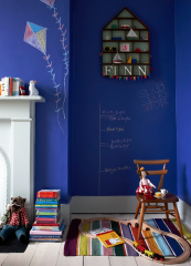 Chalkboard paint is a brilliant idea for playrooms and children's bedrooms