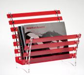 Luminati has magazine racks made from Greencast 100 per cent recycled acrylic, £28