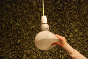 Soft LED lightbulb by Nacho Carbonell for Booo Company. Filled with rubber and LEDs, you can mould it and touch it without getting your fingers burned