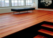 Jatoba wide board flooring from Junckers, which uses FSC and PEFC certified woods