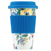 Heavier than a bamboo cup but still easy to carry with you..porcelain travel cup by Cath Kinston at John Lewis, £12