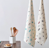 Simply London organic cotton tea towel, £9.95, from Victoria Eggs