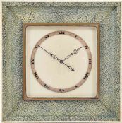 An ivory and shagreen Art Deco clock, set £100 to £200 at Catherine Southon's December auction. www.catherinesouthon.co.uk