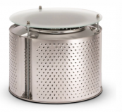 Reestore's washing machine drum coffee table