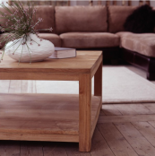 Cube FSC-cert reclaimed teak coffee table by Raft, various sizes from £277. raftfurniture.co.uk