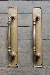 Pair of brass handles - ideal also for use a towel rails - £150 each from Retrouvius