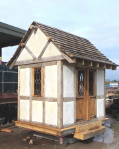 This diminutive summer house sits on an antique 19th century rotating base and has been painstakingly restored by Darren Jones of Lichen Garden Antiques. Around £20k