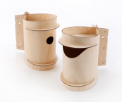 Mr & Mrs Birdee, easy no tool assembly birch ply birdhouses by Desinature, £39, www.desinature.com