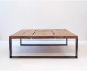 Stanley square reclaimed oak and steel coffee table by Pacha Design, from £1,200