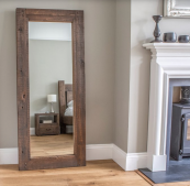 Hudson mirror, reclaimed timber frame, from £180 at eatsleeplive.co.uk