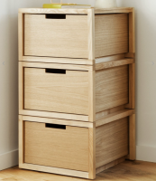 UK brand ByAlex offers Playwell wooden storage units which can be configured in various ways. Units come with a shelf or with a drawer. £100/£175. byalex.co.uk