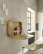 Nubo wall mounted space saving fold-up desk by GamFratesi for Ligne Roset is pricey at £1245, but similar versions available from less prestigious brands