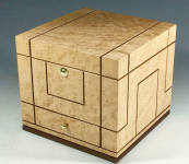 Wood storage box by The Art of Containment. Handmade in Britain