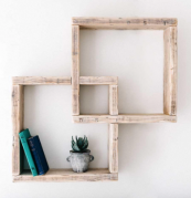 Modern shelving made from recycled wood