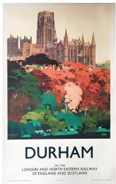 From Red Door Posters, this Durham poster by Fred Taylor 68x105cm
