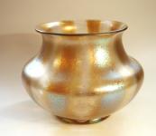 Silberstreifen glass vase