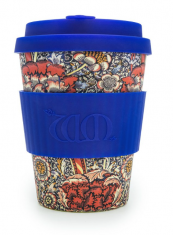Bamboo travel cup from Ecoffee Cup in William Morris design. ecoff.ee