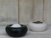 Black granite and cream porcelain pinch pots by UK maker John Julian, £25. www.johnjulian.co.uk