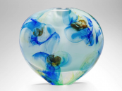 Blue Floral miniature by renowned glass artist Peter Layton, 8x8x4cm, £190. www.londonglassblowing.co.uk