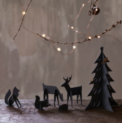 Whittlewood Friends woodland creatures, metal, £68 a set, from Rowen & Wren. Can be dismantled for easy storage