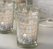Antique glass etched t-light holders, £2.95 at www.livelaughlove.co.uk