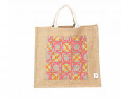 Great for summer, jute tote bags with hand-embroidered linen front pocket, £48 from sepjordan.com. Sep Jordan works with Palestinian refugee women, who make beautiful products including bags and cushions