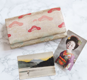 Hunted & Stuffed also offers vintage kimono silk clutch bags