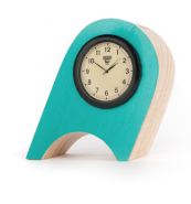 Charming little Wonky Clock made from ash by Cumbria-based Rob Bryant of Humblewood.uk. £53