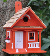 Tangerine bird house from US company Home Bazaar