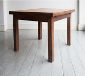 Draw leaf dining table in solid limed oak from HOWE®, £1,400. Extended length 152.4cm H76.2cm.