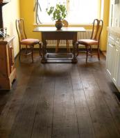 Custom finished distressed oak engineered boards from www.turgonflooring.co.uk. Wood from Ukraine