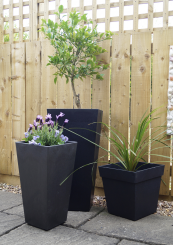 Primeur Tierra Verde planters are made from recycled car tyre rubber and are completely weatherproof. For info e sales@primeur.ltd.uk