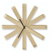 Ribbonwood beechwood wall clock by Canada's Umbra design company, £50