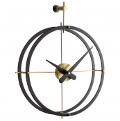 Spanish brand Nomon makes very elegant modern clocks, including this  2Puntos, made from wood and metal. nomon.es