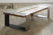 Reclaimed oak and steel coffee table, £1500, Pacha Design