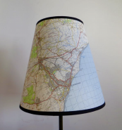 Old maps are turned into lampshade by Guy Trench of Antiques By Design