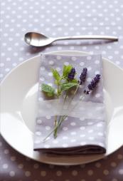Madeleine polka dot lilac organic cotton range from Ochre & Ocre. www.ochreandocre.com