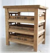 Reclaimed antique apple crate island unit from Eastburn Country Furniture, from £1,150. www.eastburncountryfurniture.co.uk