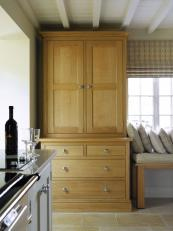 Freestanding oak dresser and window seat from Martin Moore & Co. Kitchens from £35,000. www.martinmoore.com
