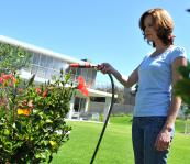 Garden hoses are made using flexible PVC and ones made from recycled PVC are on the market