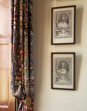 Patterned curtains add to the homely feel of the house