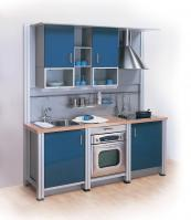 Perfect for flats, the compact Studio kitchen is made from recyclable materials including aluminium. www.gallerykitchendesign.co.uk