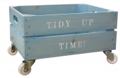 Tidy up pine crates for storage, from Lovestruck Interiors, £50/£65. www.lovestruckinteriors.com