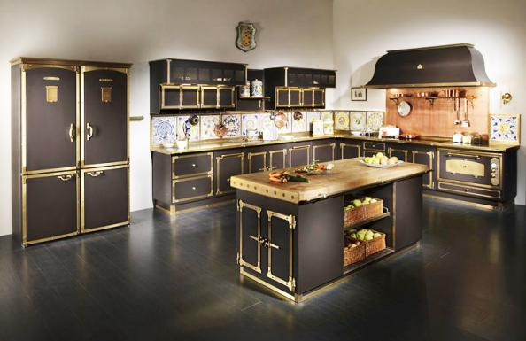 Black Cabinets Country Kitchen