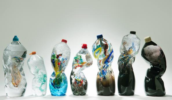 A very beautiful depiction of plastic waste