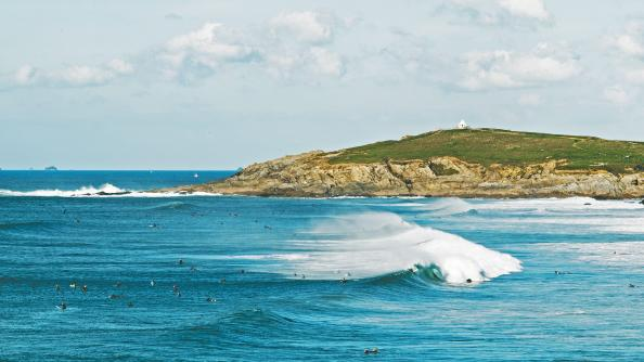 Fistral beach is a paradise for surfers