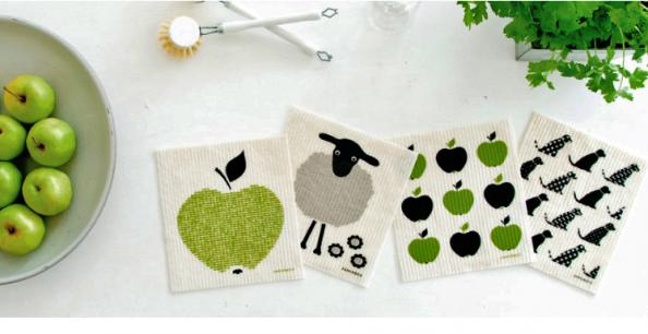 Jangeus Design dishcloths are attractive and they biodegrade
