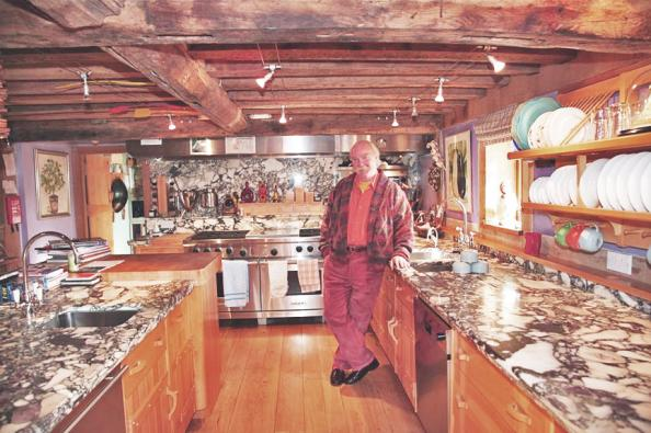 Mark Wilkinson at his Wiltshire home