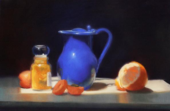 Blue Pitcher by Liz Balkwill